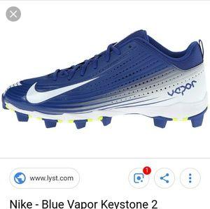 Nike Vepor Baseball Cleats Size 1Y Boys FastFlex